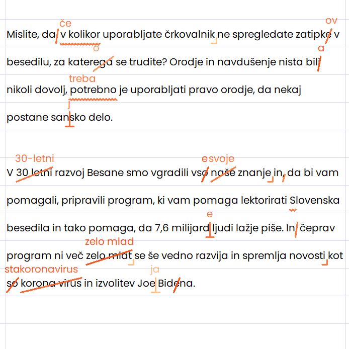Odprava slovničnih napak v vmesniku Amebis Besana Mini.
